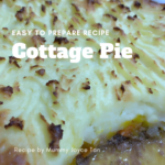 Wonder Years Mummy Matter Recipe Cottage Pie