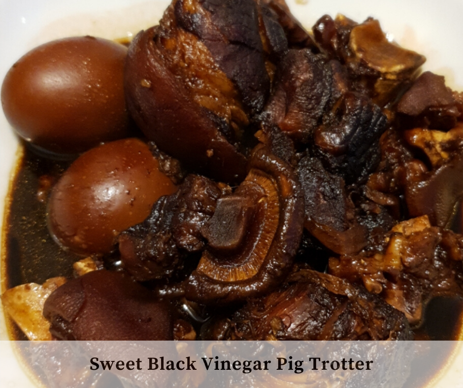 Easy to Prepare Recipe Sweet Black Vinegar Pig Trotter