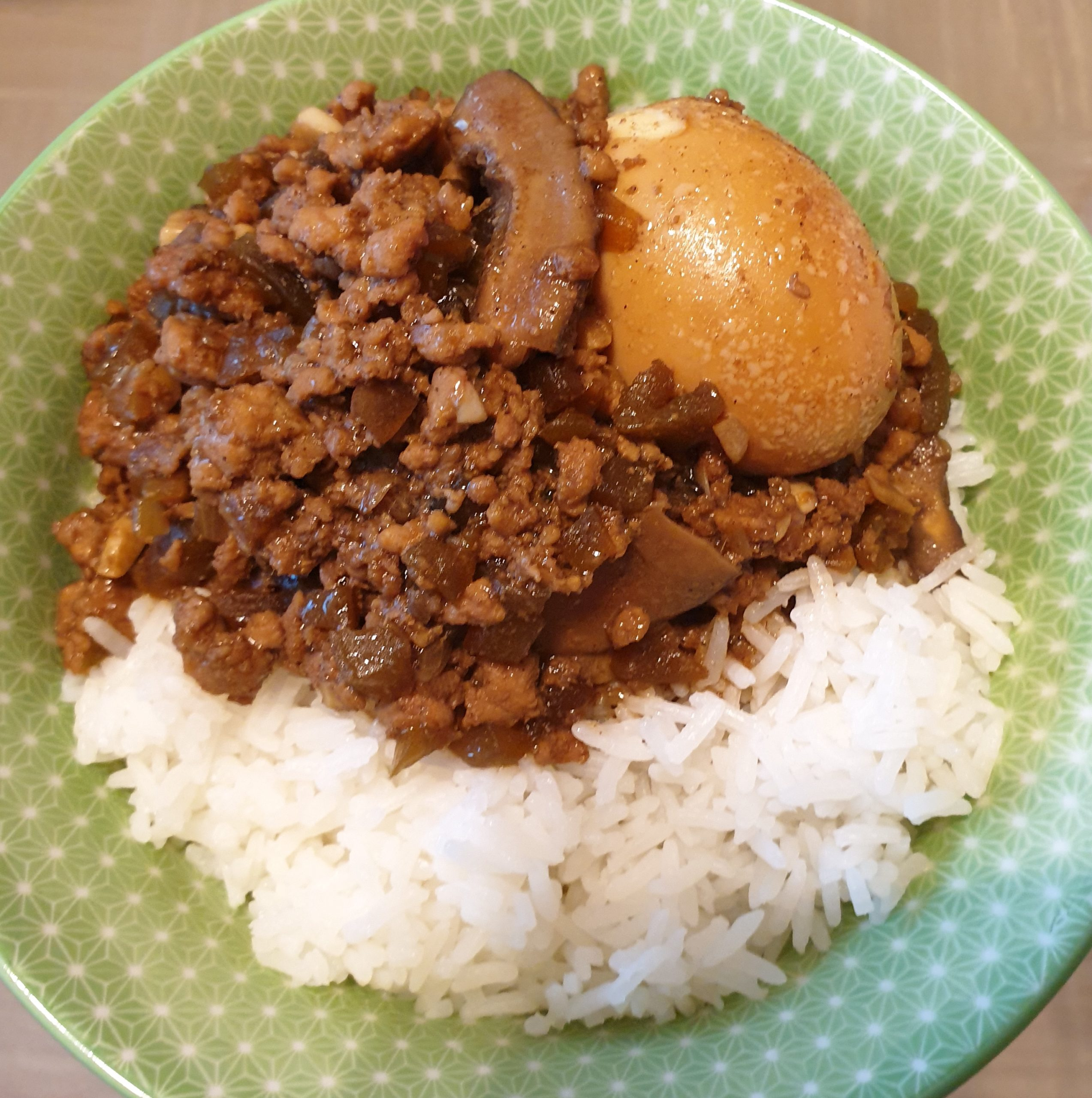 Minced Pork Rice with Pickled Lettuce