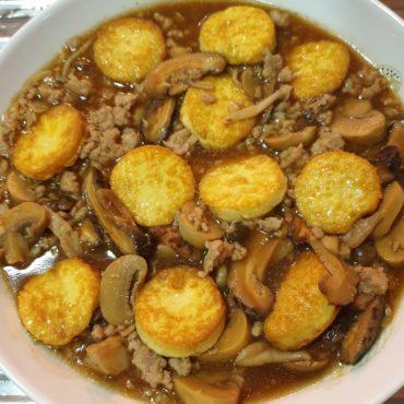 easy recipe mushroom minced pork mushroom egg tofu