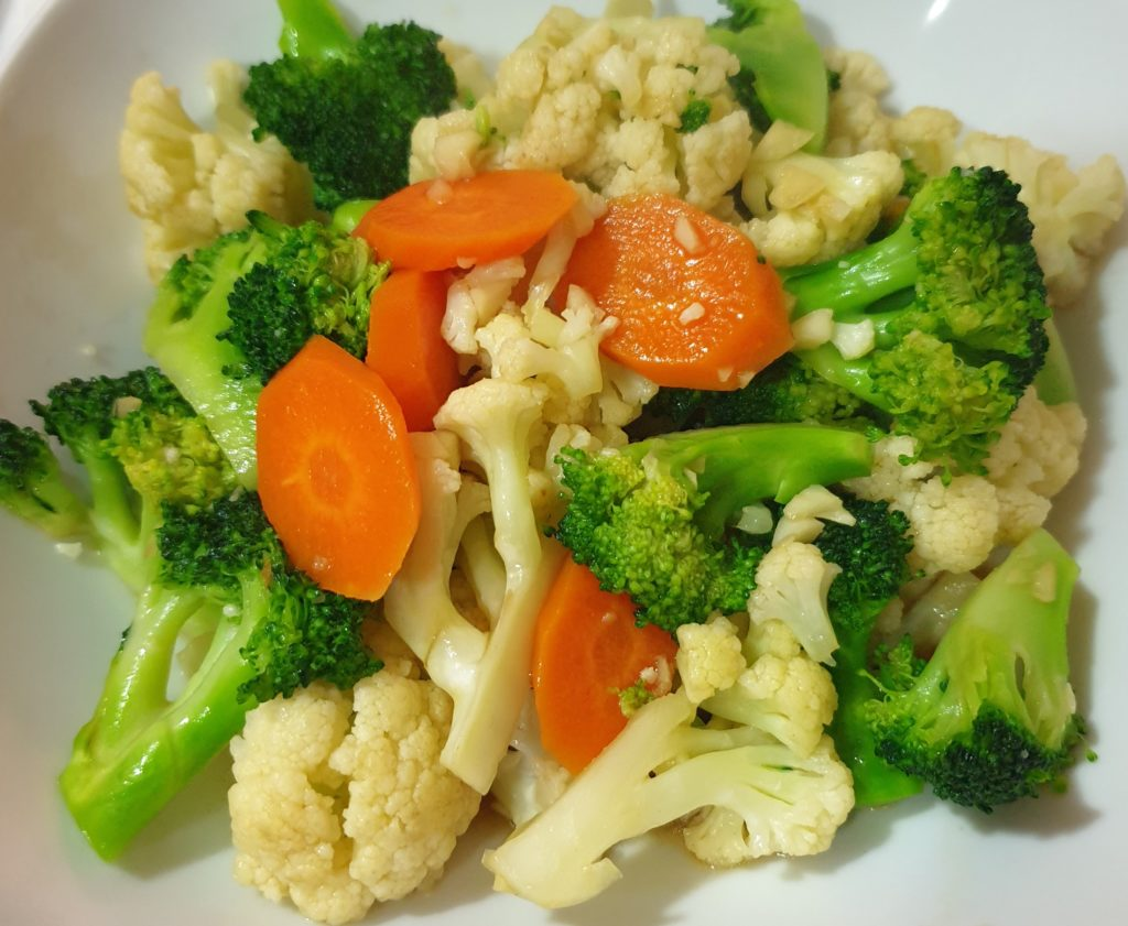 easy recipe stir fried broccoli and cauliflower