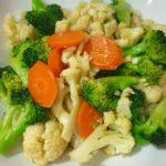 easy recipe stir fried broccoli and cauliflower