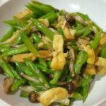 easy recipe French bean with beancurd and shimeji mushroom