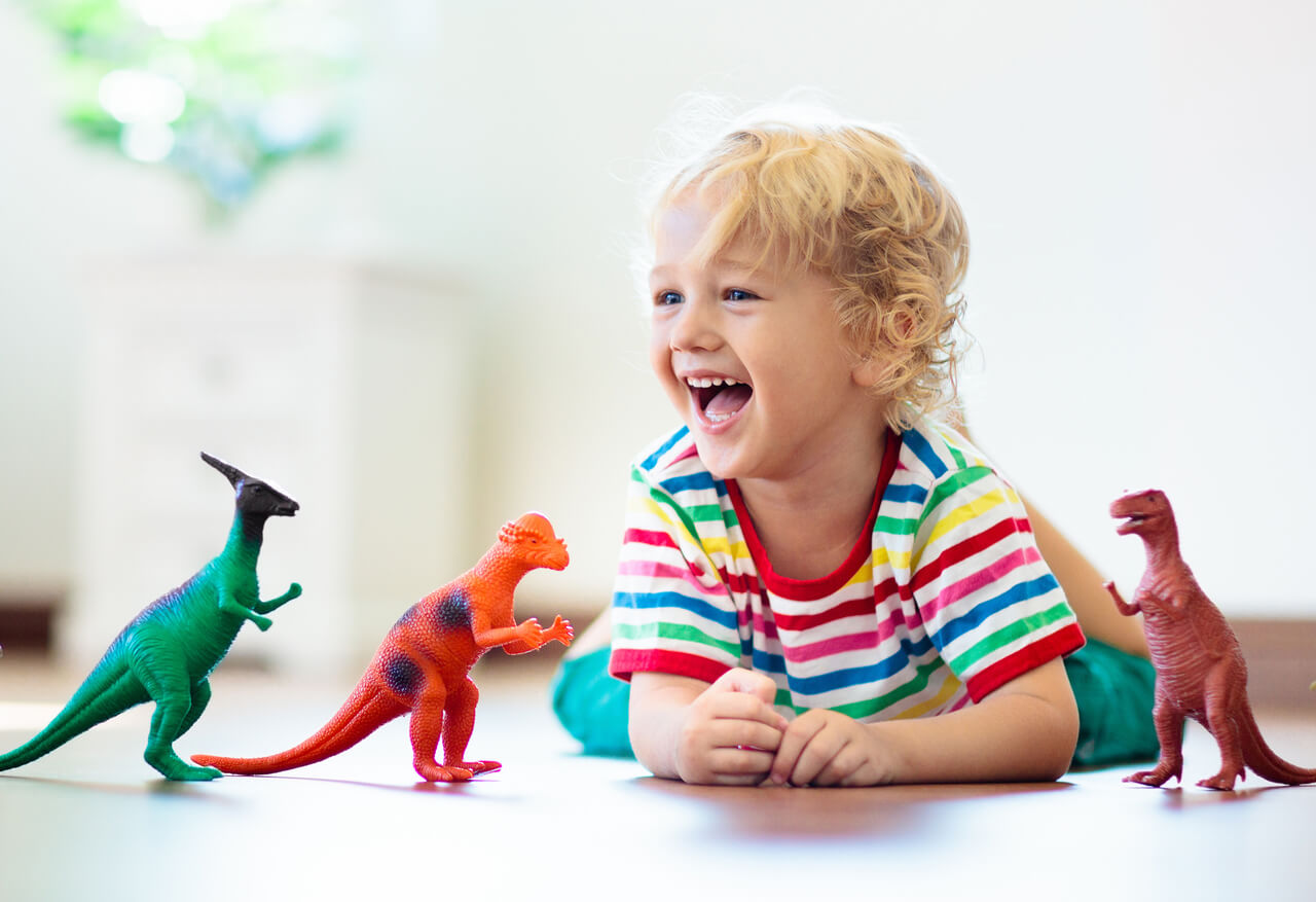 kids' love for dinosaur