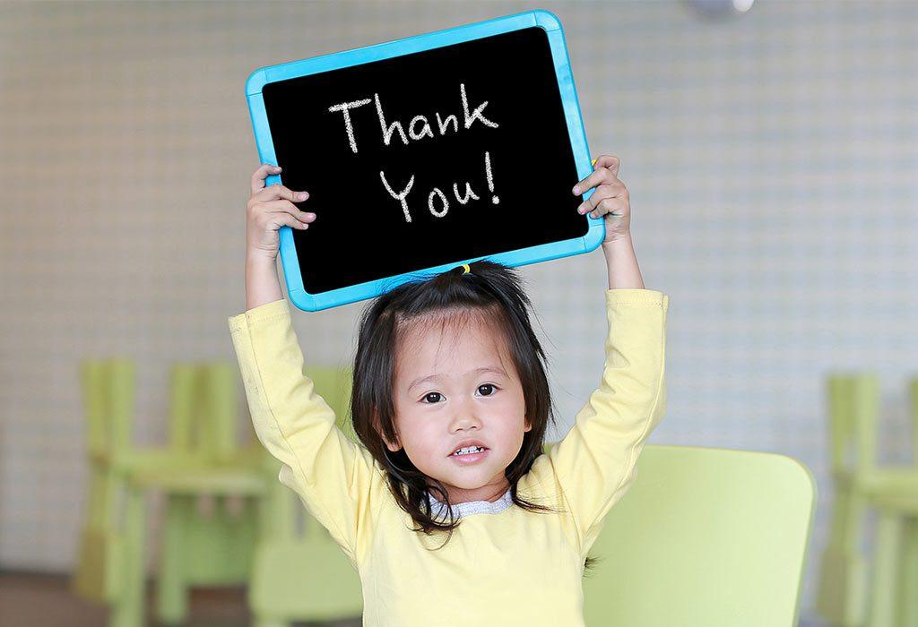 teaching kids gratitude